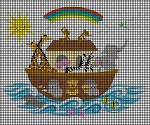 Noah's Ark Rainbow Crochet Pattern