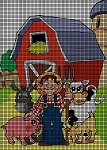 The Farmer And His Barnyard Crochet Pattern