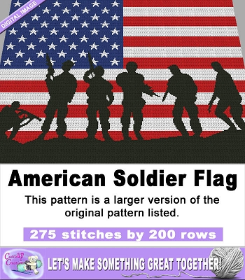 American Soldier Flag (Large) Graph Pattern