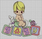 Precious Moments Baby Blocks Crochet Pattern