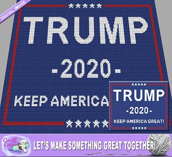 Trump 2020 Crochet Pattern