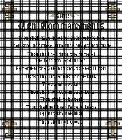 The Ten Commandments Crochet Pattern