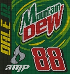 #88 Mountain Dew-Amp Crochet Pattern