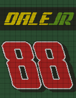 New Earnhardt #88 Crochet Pattern