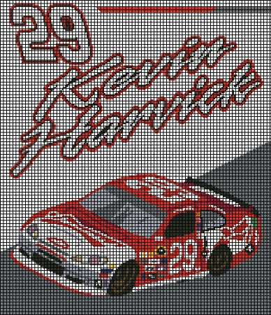 Kevin Harvick 2013 Car Crochet Pattern