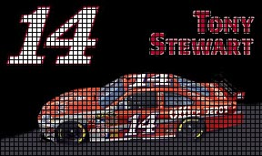 Tony Stewart #14 Car Crochet Pattern