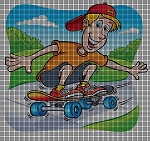 Love My Skateboard Crochet Pattern