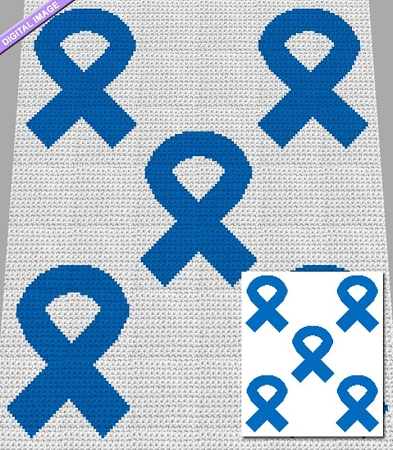 Colon Cancer Ribbons Crochet Pattern