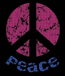 Black Light Peace Sign Crochet Pattern