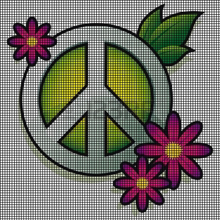 Peace Flowers Crochet Pattern