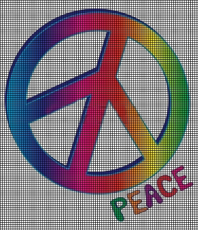 Peace Rainbow Crochet Pattern