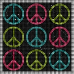 Peace Signs Crochet Pattern
