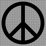 Peace Symbol Crochet Pattern