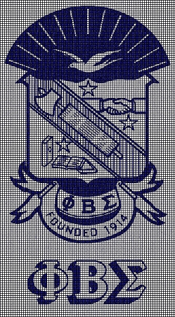 Phi Beta Sigma Crochet Pattern