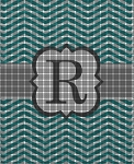 R Chevron Monogram Crochet Pattern