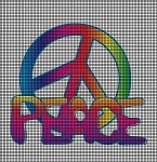 Retro Peace Sign Crochet Pattern