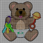 Baby Teddy Bear With Rattle & Keys Crochet Pattern