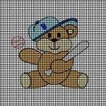 Baseball Bear 2 Crochet Pattern