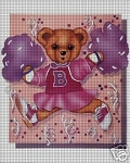 Cheerleader Bear Crochet Pattern