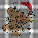 Teddy Tangled With Lights Crochet Pattern