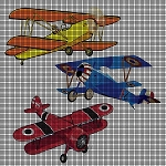 Vintage Airplanes Crochet Pattern