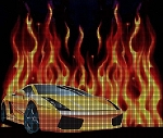 Lamborghini With Flames Crochet Pattern