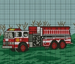 Fire Truck 2 Crochet Pattern