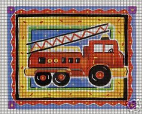 Little Red Fire Engine Crochet Pattern