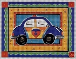 Toy Police Car Crochet Pattern