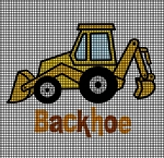 Cute Little Backhoe Crochet Pattern