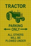 Tractor Parking Crochet Pattern