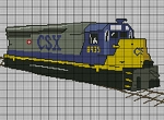 CSX Train Crochet Pattern