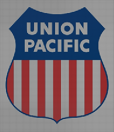 Union Pacific Railroad Logo Crochet Pattern