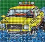Monster Yellow Truck Crochet Pattern