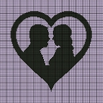 Wedding Heart Silhouette Crochet Pattern