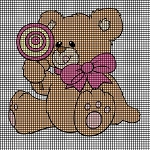 Teddy Bear with Lolipop Crochet Pattern