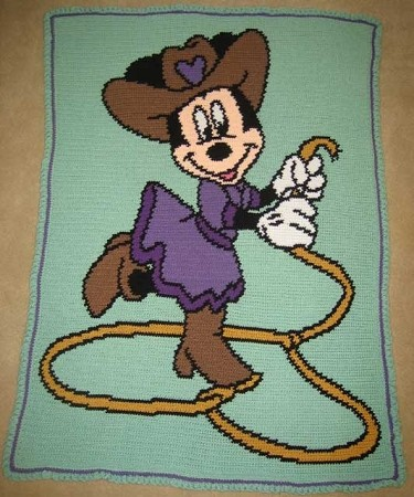 Cowgirl Minnie Hand Made Afghan