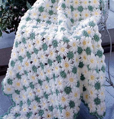 Baby Daisy Delight Hand Made Afghan