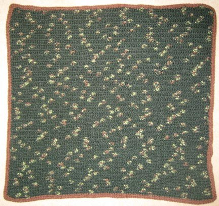 Baby Dark Green Camo Hand Made Afghan