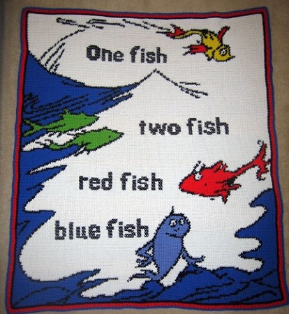 One Fish Two Fish Hand Made Afghan