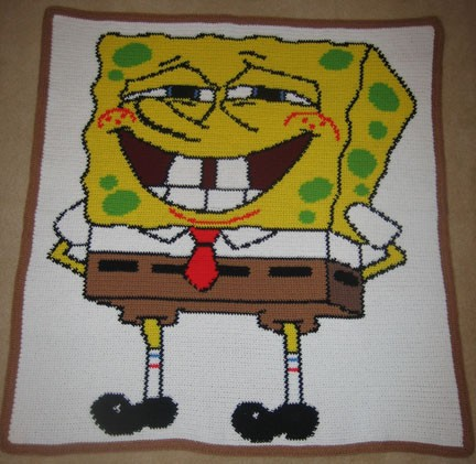 SpongeBob That's Me Hand Made Afghan