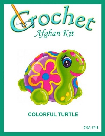 Colorful Turtle Crochet Afghan Kit