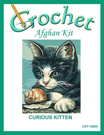 Curious Kitten Crochet Afghan Kit