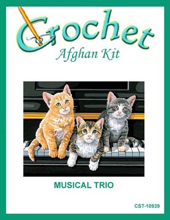 Musical Trio Crochet Afghan Kit