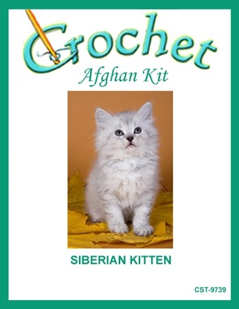 Siberian Kitten Crochet Afghan Kit