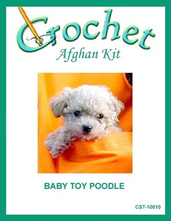 Baby Toy Poodle Crochet Afghan Kit