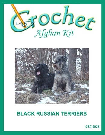 Black Russian Terriers Crochet Afghan Kit