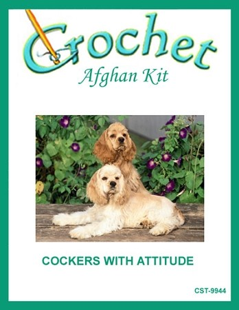 Cockers With Attitude Crochet Afghan Kit