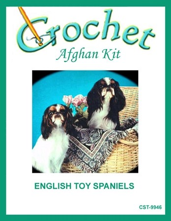 English Toy Spaniels Crochet Afghan Kit