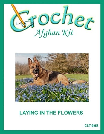Laying In The Flowers Crochet Afghan Kit